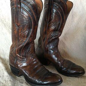 Lucchese Men's Dark Brown Cowboy Boots